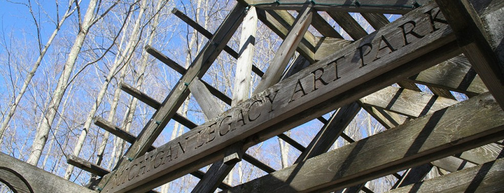 Michigan Legacy Art Park Entrance