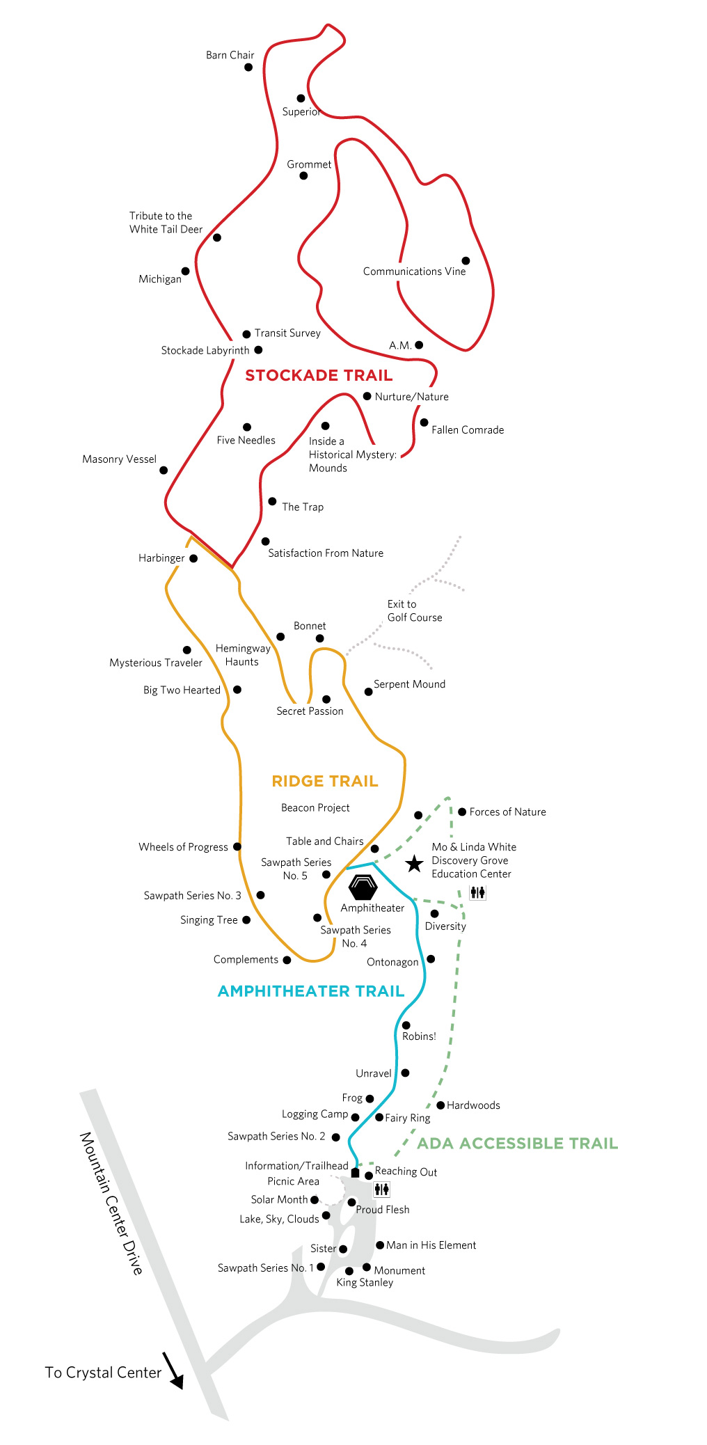 Michigan Legacy Art Park Trail Map