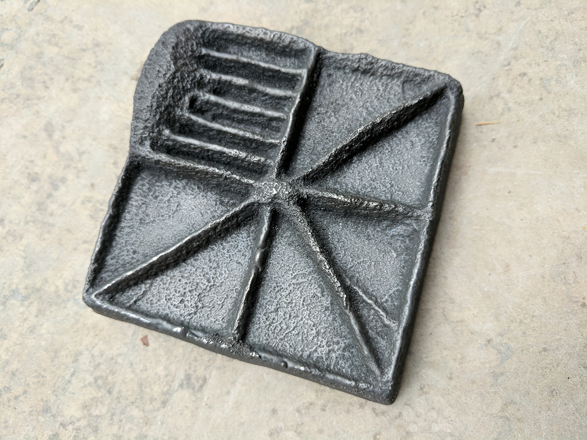 A iron tile created by student