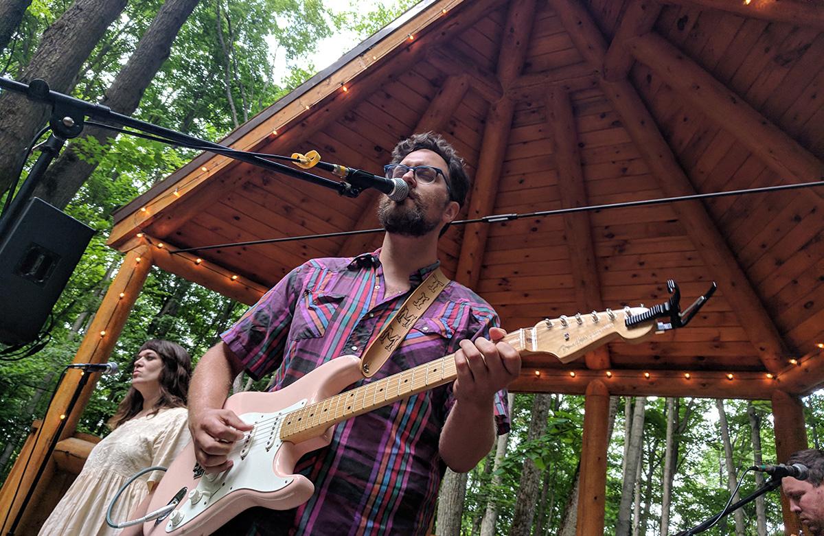 Jonathan Timm performs at Michigan Legacy Art Park